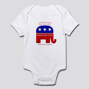 Weepublicans for Ron Paul Infant Bodysuit